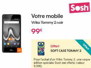 Sosh Mobile avec Smartphone Wiko Tommy 2 à 99€