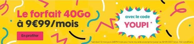 Sosh 40 Go en promo
