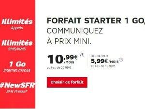 SFR Starter 1 Go dès 5,99€/mois