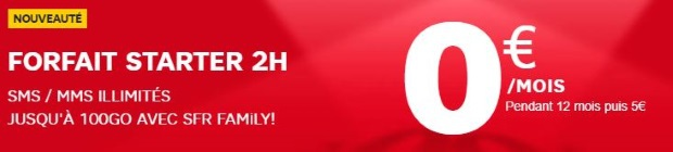 SFR Altice : forfait 2h en promo