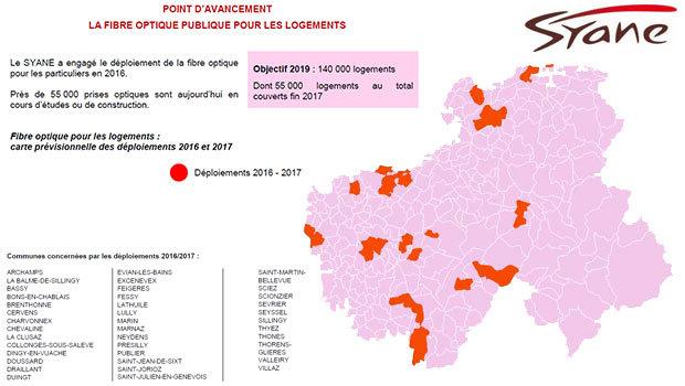 La fibre optique en 2016-2017 en Haute-Savoie