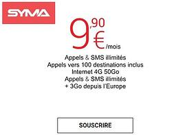 Syma mobile forfait data