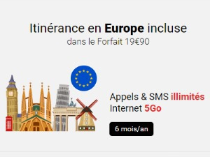 Syma Mobile : appels,SMS et Internet à l'étranger avec le forfait 20 Go