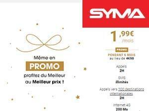 Un forfait à moins de 2e chez Syma Mobile