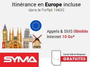 Le roaming et les communications vers l'étranger chez Syma Mobile