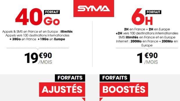 Les offres Syma Mobile