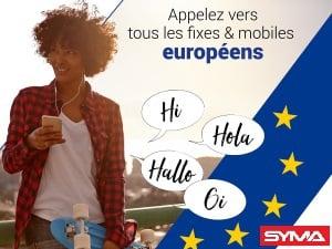 appels vers les mobiles d'Europe inclus chez Syma