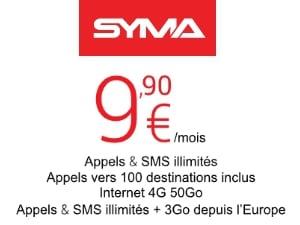 Syma Mobile : forfait 50 Go à petit prix