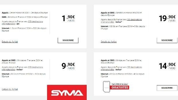 Les offres Syma Mobile boostées en data