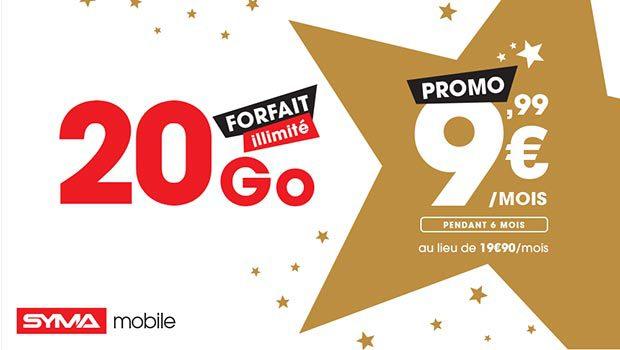 Syma Mobile à 9,99€/mois pour 20 Go et du roaming