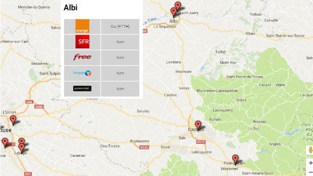 Les communes du 81 éligibles aux offres fibre Orange