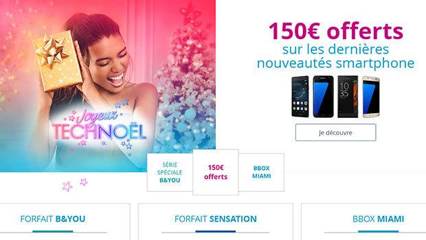 150€ offerts sur les nouveautés Bouygues Telecom