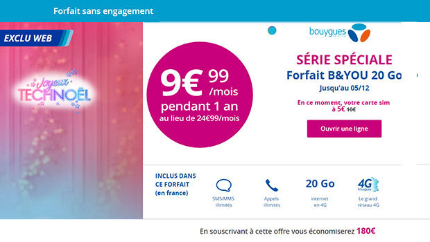 Promotions Bouygues Telecom