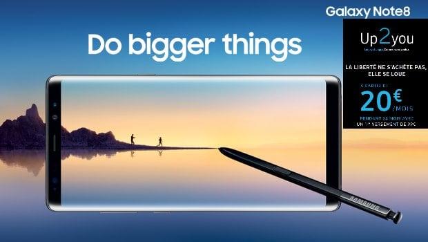 Louer un mobile Up2You chez Samsung