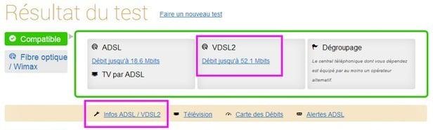 test d'éligibilité Ariase avec OVH/VDSL2