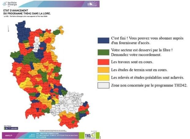 Très haut débit : la fibre avance dans la Loire