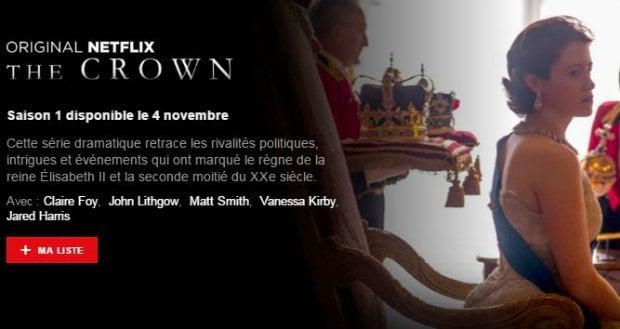 The Crown sur Netflix à partir du 4 novembre