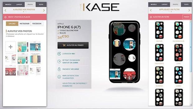 The Kase : le module de création de coque est très facile à prendre en main
