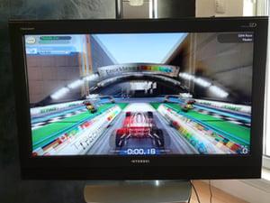 Trackmania sur une TV 3D