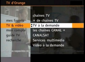 La TV à la demande d'Orange