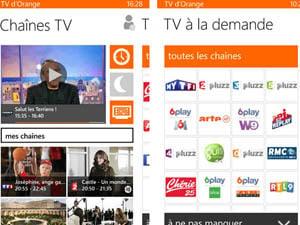 appli tv orange