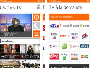 appli tv orange