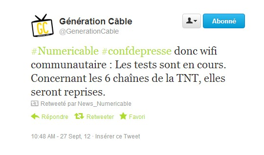 Tweet Generation Cable