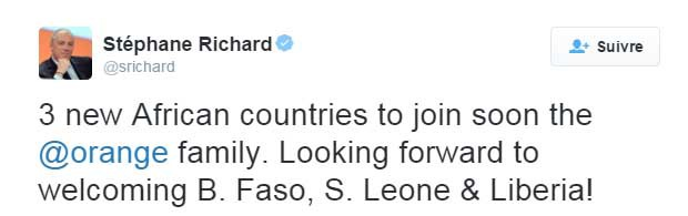 tweet stéphane richard orange