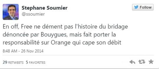 Tweet de Stéphane Soumier