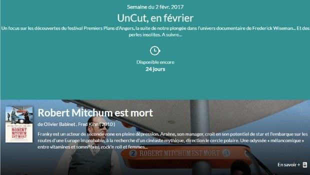 Uncut : offre de films d'auteur en VOD par abonnement