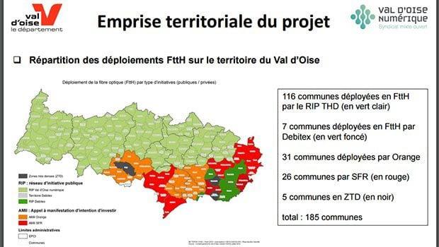 Le déploiement sur le Val d'Oise