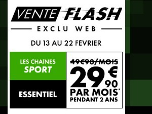 Ventes Flash Canal Essentiel Sport