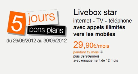 Vente flash Livebox Star Orange