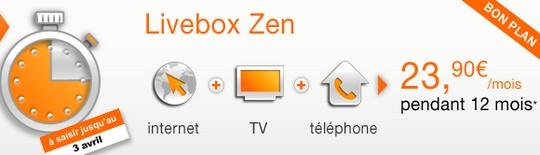 Vente Flash Livebox Zen Orange
