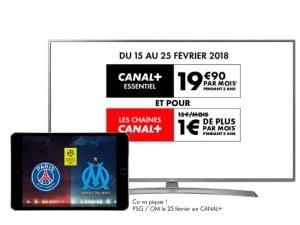 Canal en promo : Sport, Cinéma, Séries, Famille à 1€