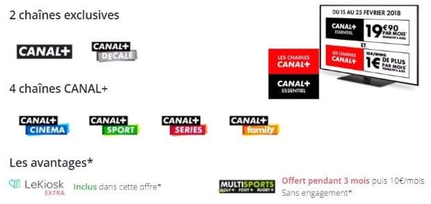 Vente privée Canal+