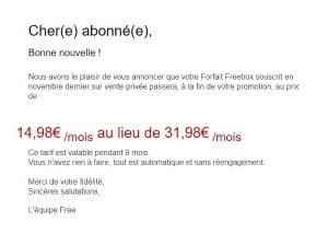 Vente privée Freebox : prolongation de la promotion pendant 9 mois