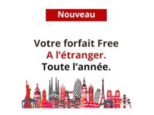 Forfait Free : appels et Internet depuis l'étranger