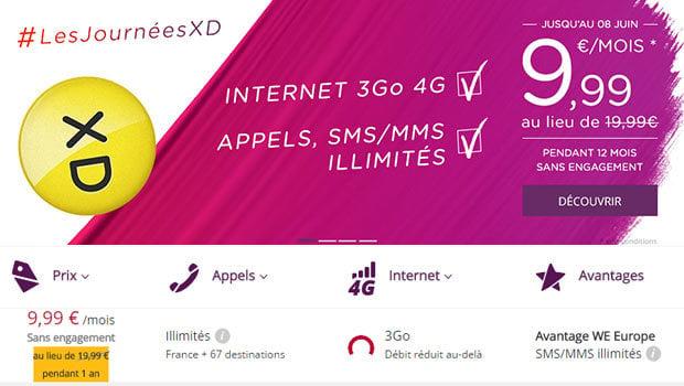 10 euros de réduction sur le forfait 3Go Virgin Mobile sans engagement