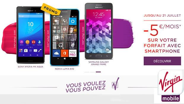 Virgin Mobile avec Smartphone et engagement