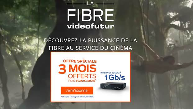 L'offre FIBRE videofutur à 39,90€/mois