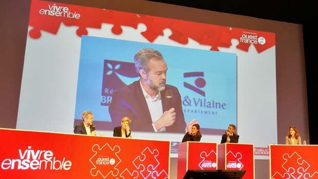 Sébastien MISSOFFE directeur de Google France et Fabienne Dulac, Orange