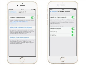 Activer la fonction sur un iPhone