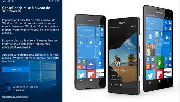 Selon les smartphones Lumia, Windows 10 n'aura pas exactement les mêmes fonctionnalités