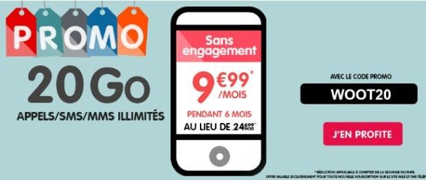 NRJ Mobile : promo Woot 20 Go