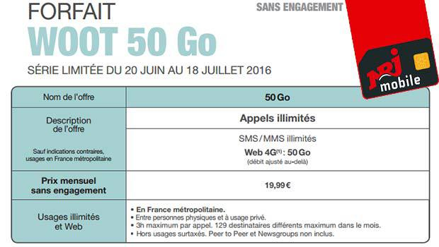 Forfait Woot 50Go