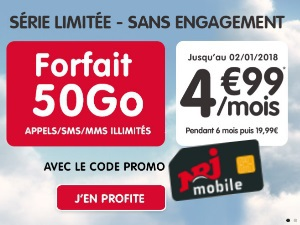 Les promotions mobiles 4G de NRJ Mobile