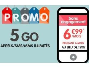 NRJ Mobile : Woot 5 Go en promo
