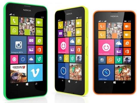Les Nokia Lumia 630 et 635 sont identiques… extérieurement.