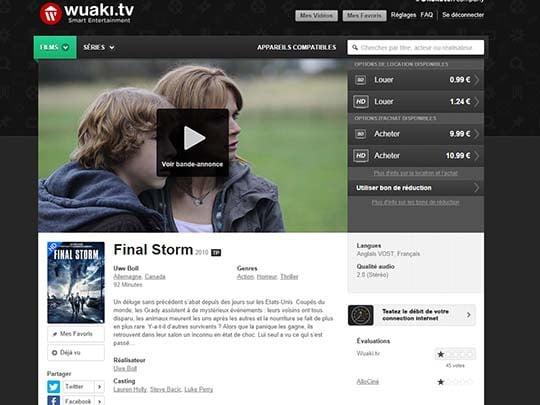 Wuaki.tv : location & achat de films/séries